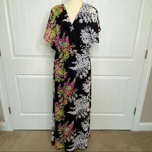 Lane Bryant flowy floral maxi dress size 14/16
